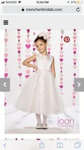 Joan Calabrese BNWT Blush Satin Tulle Flower Girl Dress Size 5