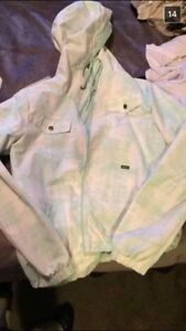 Women's large teal volcom windbreaker