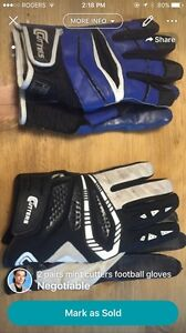 2 pairs of mint cutters football gloves