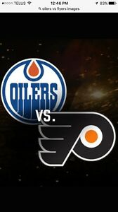 Edmonton Oilers vs Philadelphia Flyers tickets LOWER BOWL!!