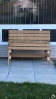 Bench made with pressure treated wood