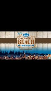 Cavendish music festival general 4 day weekend pass.