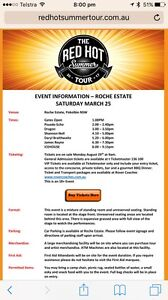 Red Hot Summer tour ticket Merewether Heights Newcastle Area Preview