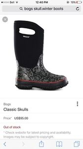 BOGS rain boots and 2 winter boots