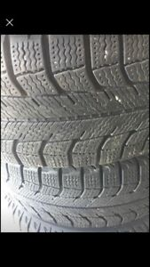 Four winter tires - Michelin X-Ice 185/65 R14 and rims