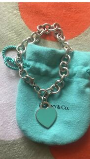 Tiffany & Co return to tiffany heart tag Enamel bracelet Authentic