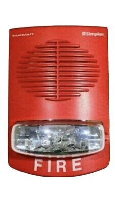 Simplex 4906-9151 Wall Mount Fire Alarm Red Speaker Strobe 0743258 New