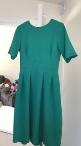 Teal green formal midi HM dress