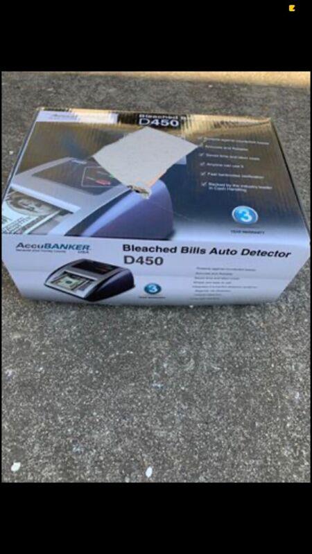 Red AccuBanker D450 Counterfeit Bill Detector