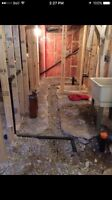 Professional Basement Bathroom Rough In