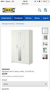 Free Excellent Condition IKEA Wardrobe Randwick Eastern Suburbs Preview