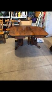 Solid wood kitchen table for sale.