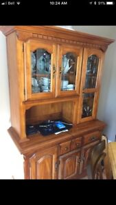 Kroehler China cabinet buffet and hutch