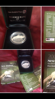 Silver coin Tuatara 2007