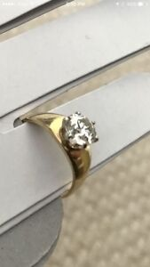 Early Modern Brilliant Cut Diamond 1.2 ct in 14 KT yellow gold
