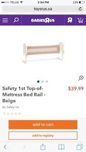 Mattress bed rail