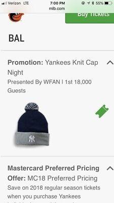 5fe002b10 New York Yankees Knit Wool Winter Ski Snow Hat Cap Beanie SGA 9/21/2018