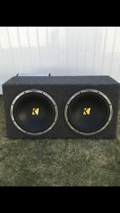 Kicker subs with JL amp