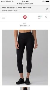 All the right places crop lululemon