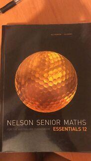 Nelson Senior Maths book Year 12