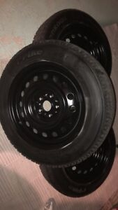 Hankook snow tires 90 % tread