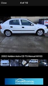 Holden Astra ts 2002 CD manuel 5 sp wrecking for parts from Hassall Grove Blacktown Area Preview