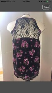 Black Lace formal summer dress XS
