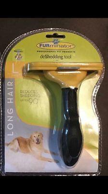 "Long Hair Large Dogs 51-90 Lbs 4"" Edge Blade Furminator DeShedding Brush for sale  Brooklyn"