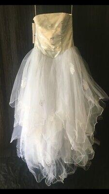 Boho beach Wedding dress Event Full length Size 14 white