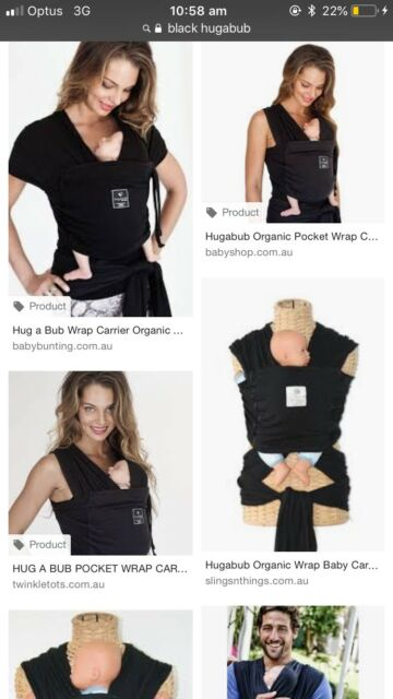 Organic Pocket Wrap Hug A Bub Carrier Baby Carriers Gumtree