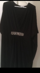 Black dress with crystal strap. Pakenham Cardinia Area Preview