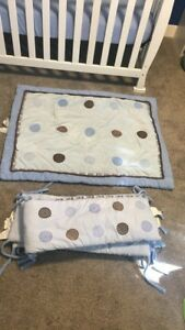 Crib bumpers and blanket