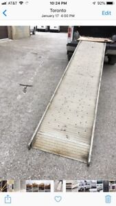 """Walking ramp 12 ft by 30"""" for loading heavy into"""