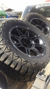 "18x9 metal mayhem rims with 33x12.5"" tires Strathcona County Edmonton Area image 1"