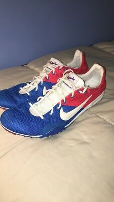 24a5ff624489 Nike Bowerman Series Track   Field Spikes Size 12 Red White Blue