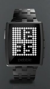 Peddle steel smart watch black