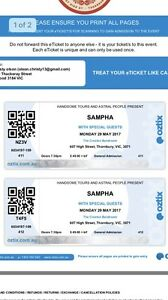 2 X SAMPHA TICKETS Elwood Port Phillip Preview
