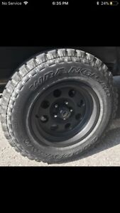 Mud/AT tires Goodyear Wranglers with rims! 650$