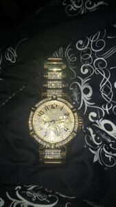 Gold guess watch