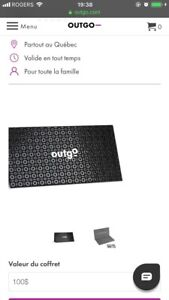 Carte Cadeau de 100$  Out Go