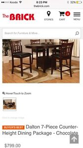Table and six chairs ***reduced $300***