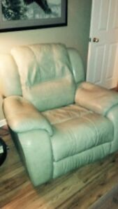 Leather couch and chair! Both RECLINE!