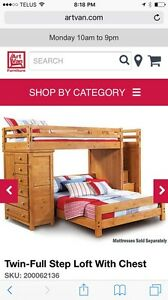 Bunk bed twin over double