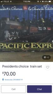 462  President s choice pacific express electric train set