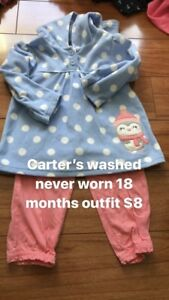 18 months Carter's outfit washed never worn