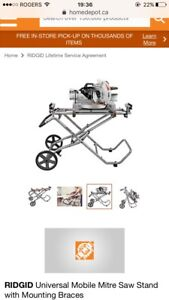 Rigid Mitre Saw Utility Vehicle and Saw !
