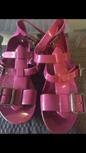 Authentic Burberry Jelly Flat Sandals Size 37
