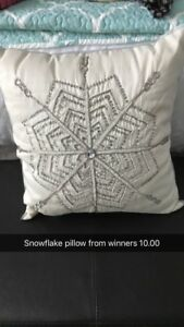 Snowflake throw pillow from winners