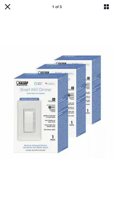 NIB 3 Pack Feit Electric Smart WiFi Dimmer