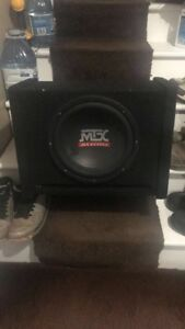"12"" mtx subwoofer and box"